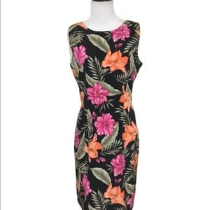 Dressbarn Sleeveless Floral Sheath Dress 8